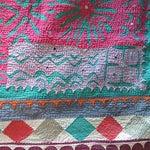 Image of Vintage Indian Sari Quilt - Pink