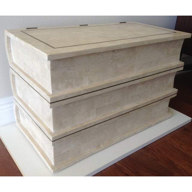 Image of Maitland Smith Tessellated Stacked Book Chest