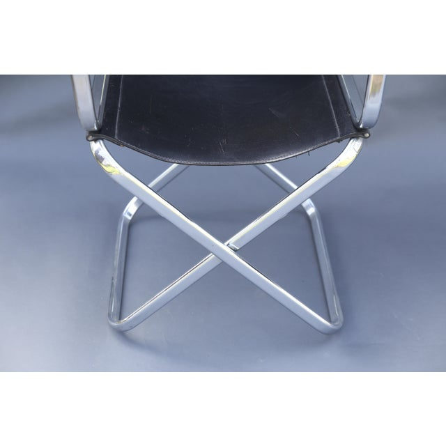 Image of Arrben Italian Leather & Chrome Chairs - A Pair