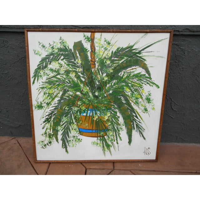 Hanging Plant Oil on Canvas - Image 2 of 5