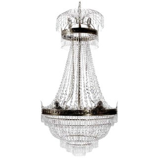 Octagonal Empire Ebony Armless Drop Chandelier