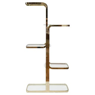 Five Tiered Brass Etagere