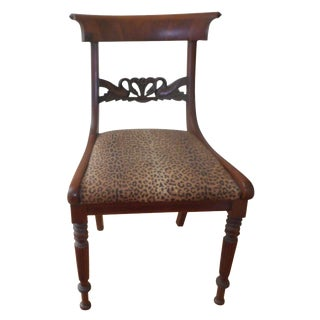 Antique Swan Motif Accent Chair