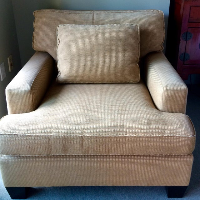 Barbara Barry Baker Lounge Chair & Ottoman - Image 2 of 8