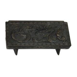 Repoussé Chinese Dragon Stamp Box