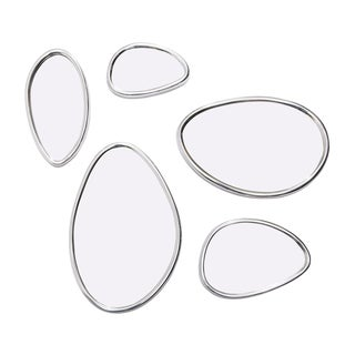Pebbles Organic Mirrors with Adjustable Design - Set of 5