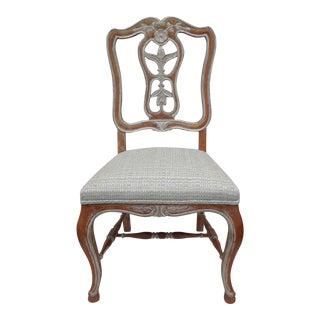 Antique French Parcel Gilt Accent Chair
