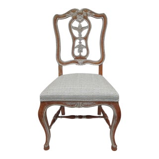Antique French Parcel Gilt Accent Chair
