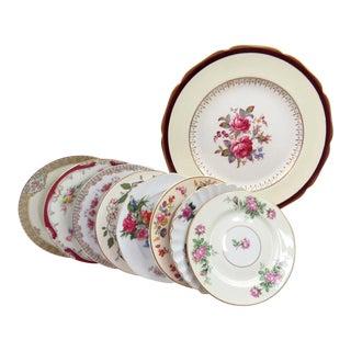 Vintage Mismatched Cake/Dessert Plates - Set of 9