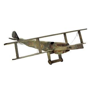 Vintage Handmade Plane Model