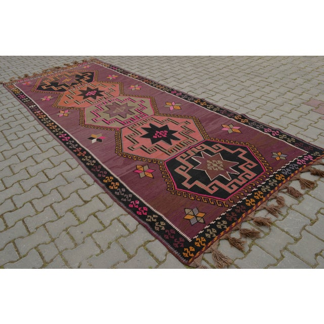 Hand-Woven Turkish Runner - 5′6″ × 13′2″ - Image 5 of 10