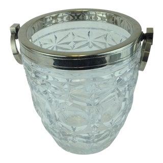 Eisenberg Lozano 1950's Crystal Silver Ice Bucket