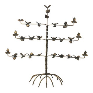Gold Leaf Espalier Decorative Candleabra