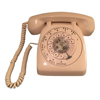 Vintage Retro Beige Telephone