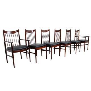 Arne Vodder & Helge Sibast Rosewood Dining Chairs - Set of 6