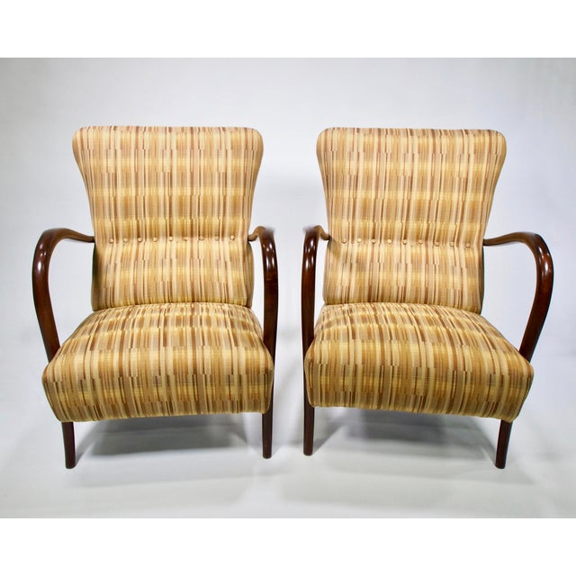 Italian Mid-Century High Back Chairs - A Pair - Image 3 of 10