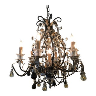 Clear & Black Crystal Chandelier
