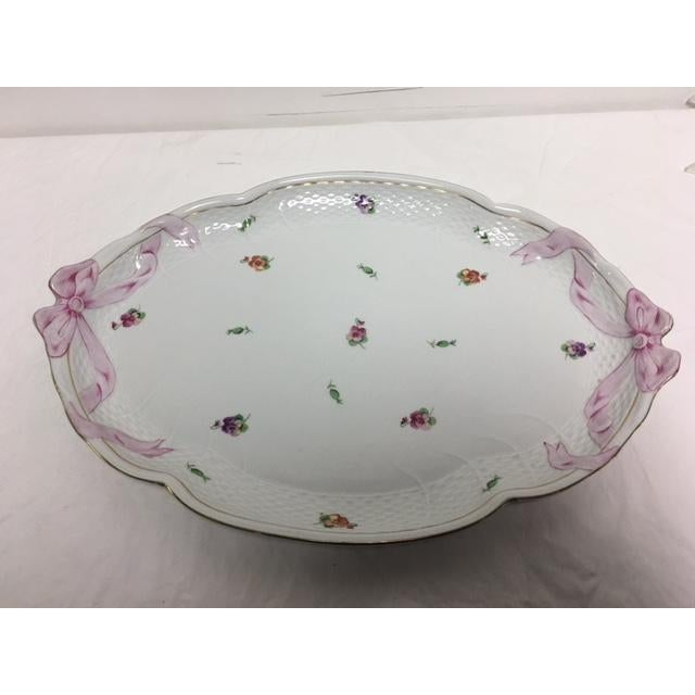 Herend Printemps Oval Ribbon Tray - Image 6 of 7