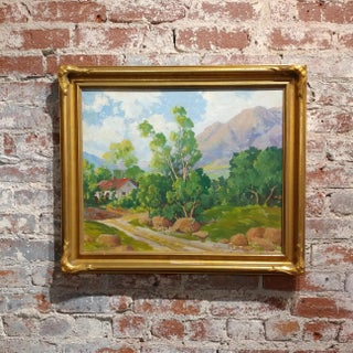 Andrew B. Lund -Beautiful Plein Air Landscape-California Impressionist-Oil panting