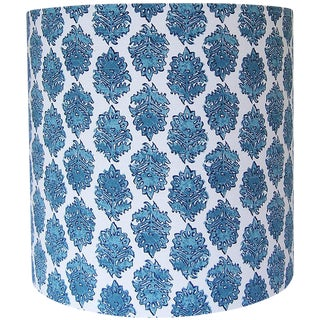 Block Print Drum Lamp Shade