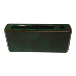 Otagiri Faux Malachite Memo & Pen Holder