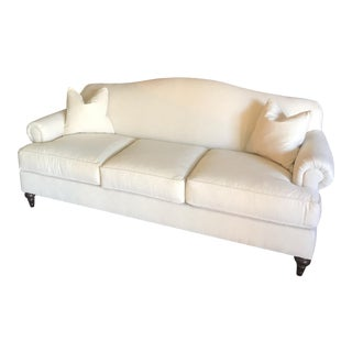 Cream Upholstered Bassett Sofa