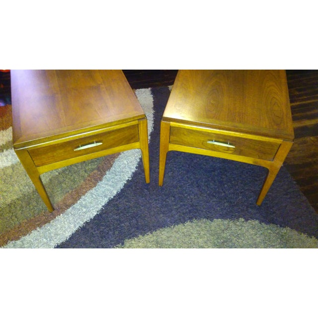 Lane Mid-Century Single Drawer End Tables - A Pair - Image 2 of 10