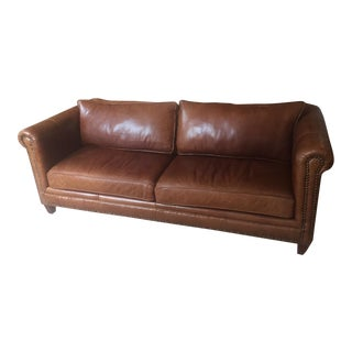 Luxurious Modern Supple Brown Leather Sofa