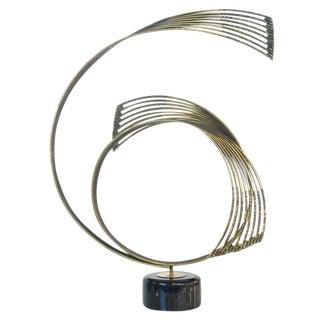 Curtis Jere 'Windswept' Brass Sculpture