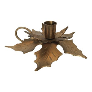 Holly Leaf Candle Holder
