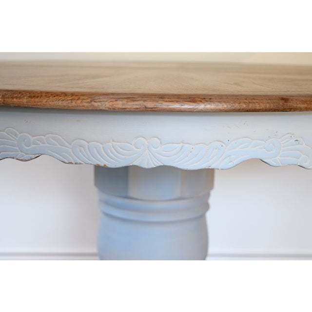 Chalk Painted French Country Dining Table - Image 6 of 7
