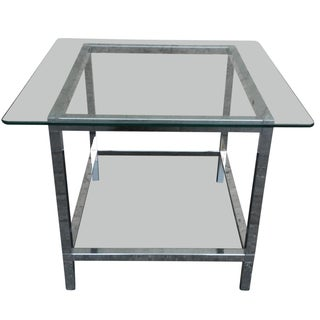 Mies Van Der Rohe-Style Side Table