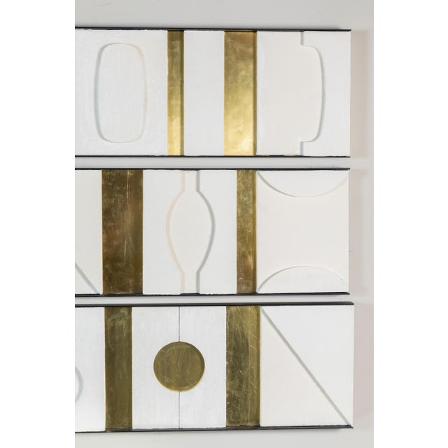 Art Wall Sculpture Panels Triptych by Paul Marra - Image 4 of 8