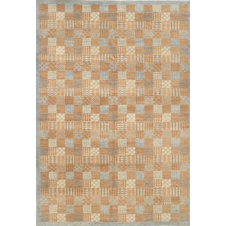 "Pasargad NY Hand-Knotted Modern Area Rug - 6'2"" x 9'"
