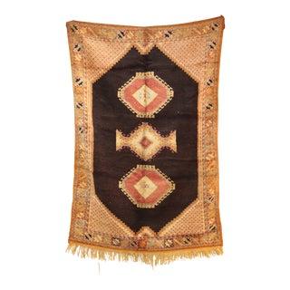 """AIT OUAGHRDA Vintage Moroccan Rug, 5'5"""" x 7'10"""" feet / 165 x 240 cm"""