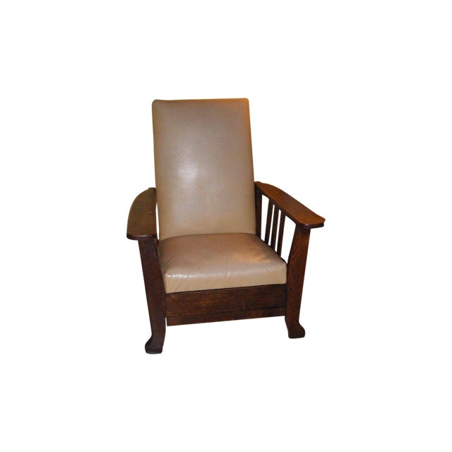Antique 1911 Mission Oak Reclining Morris Chair - Image 1 of 5
