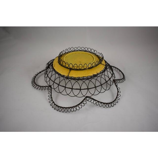 German Majolica & Looped Wire Basket - Image 9 of 11