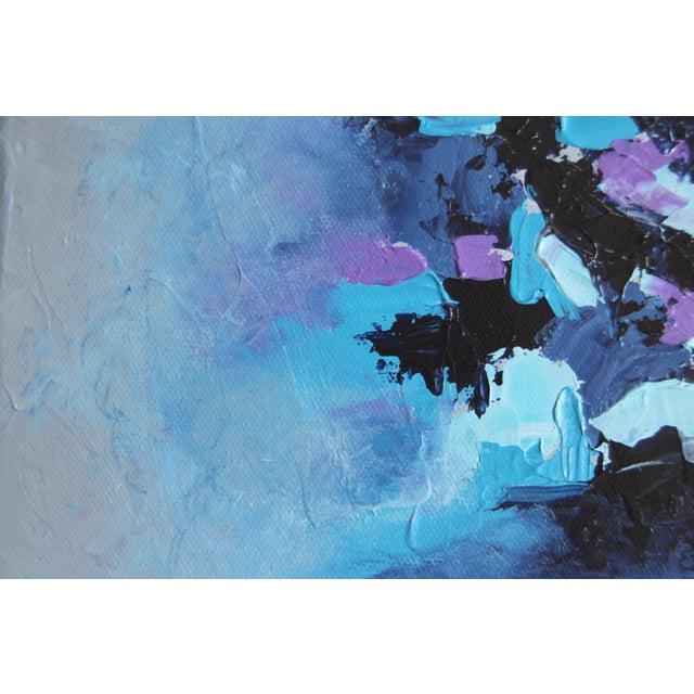"""Harbor Mist,"" Acrylic Painting - Celeste Plowden - Image 3 of 4"