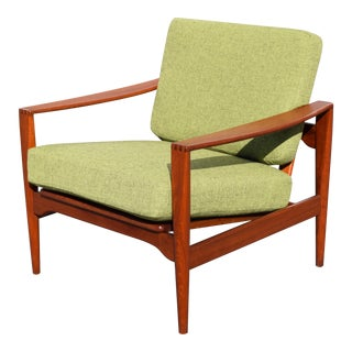 Illum Wikkelso Danish Modern Teak Lounge Chairby France and Sons
