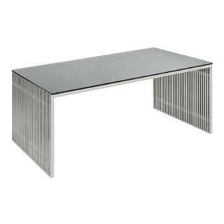 Brushed Stainless Steel Desk