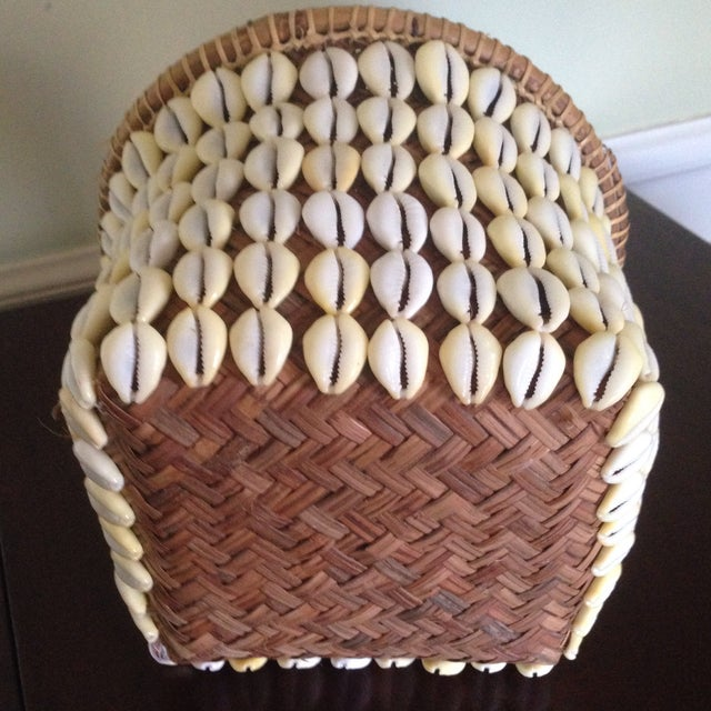 Vintage Woven Shell Basket - Image 8 of 11