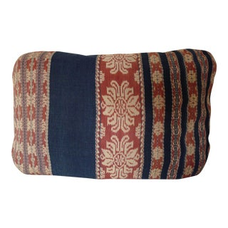 Vintage Ikat Fabric Pillow
