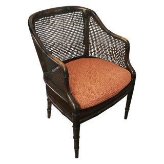 French Mahogany Cane Chair