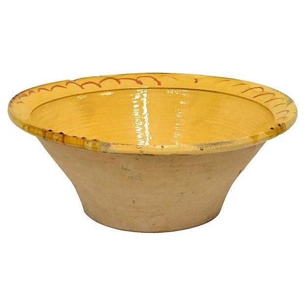 Image of Spanish Lebrillo Bowl Spain Yellow