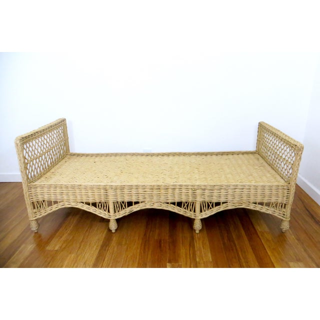 Vintage Wicker Rattan Daybed by Bar Harbor - Image 4 of 8