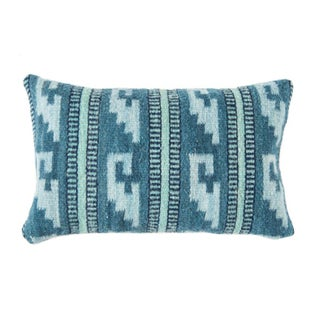Teal Wool Oaxacan Pillow Cover