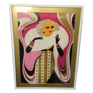 Psychedelic 1968 Jean Harlow Art Poster