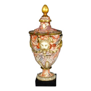 Continental Large Marbled Pottery Urn