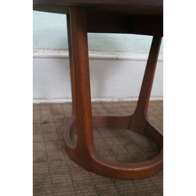 Lane Mid-Century Modern Round Walnut Side Table - Image 4 of 10