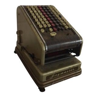 Vintage Paymaster 700 Check Writer
